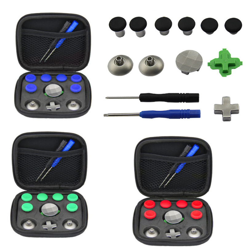 For Xbox One Elite Gamepad Full Set Joystick Caps DIY Replacement Repair Part Kit For XBOX One Elite Gamepad Joystick Controller