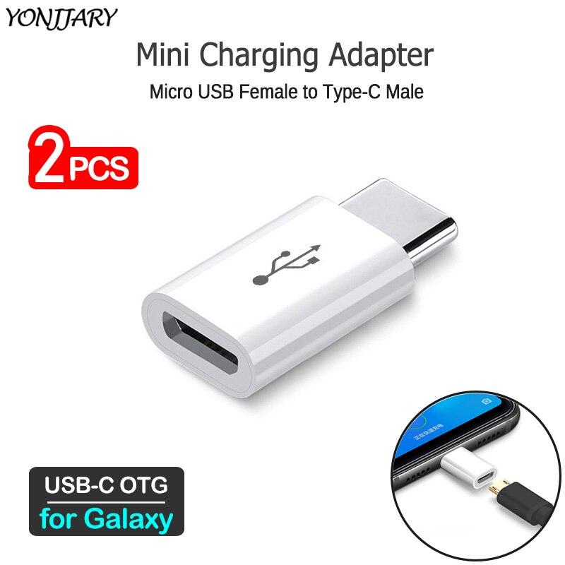 2Pcs USB C To Micro Charging Converter For Samsung Galaxy C5 C7 C9 Pro A6s A8s A9s A3 A5 A7 2017 A8 A9 2018 S10 Note 10 Lite OTG