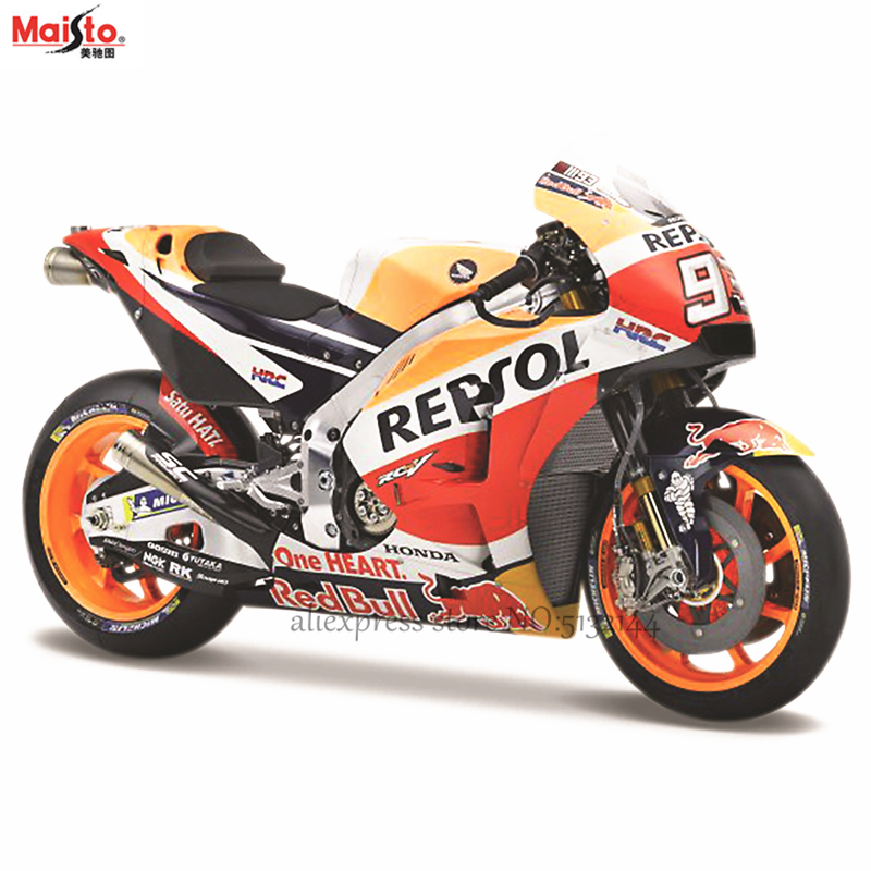 Maisto <font><b>1:18</b></font> Repsol Honda team RC213V 2018 NO:93 original authorized simulation alloy motorcycle <font><b>model</b></font> toy <font><b>car</b></font> Gift collection image