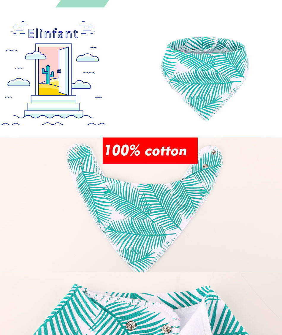 Elinfant Bandana Baby Bibs For Baby Cute Pretty Princess 100% Pure Cotton Super-Stylish Anti-Smell Anti-Bacterial Apron Dry bibs