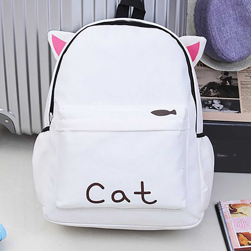 Women Backpack Harajuku Cute 3D Long Ears Double Shoulder Bag Mini Backpacks Children Girls Travel Shoulder Knapsack 827