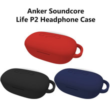 Silicone Case For Anker Soundcore Life P2 Wireless Bluetooth Headset Cover Sleeve Shell Headphone Accessories(China)