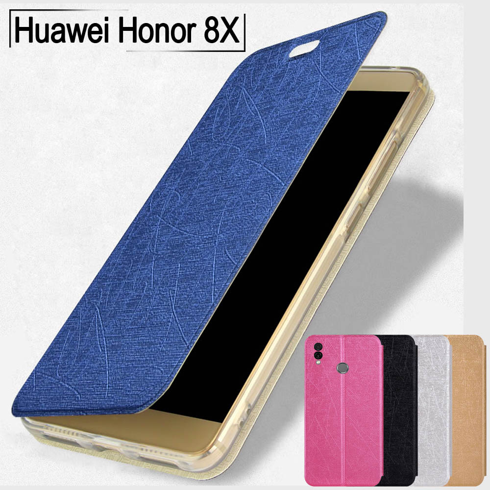 For <font><b>Huawei</b></font> <font><b>Honor</b></font> <font><b>8X</b></font> case tpu soft stand book cover for <font><b>Honor</b></font> <font><b>8X</b></font> max case flip Slim leather case for <font><b>Huawei</b></font> <font><b>Honor</b></font> 8C 9X Pro case image