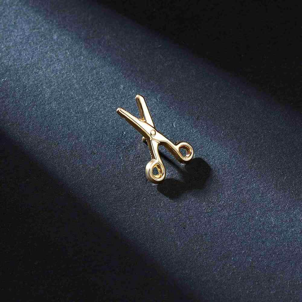 Gunting Smiley Butterfly Pesawat Lencana Digital Kecil Bros Pin Baru Unisex Kerah Pin Perapi Kemeja Kerah Perhiasan Aksesoris
