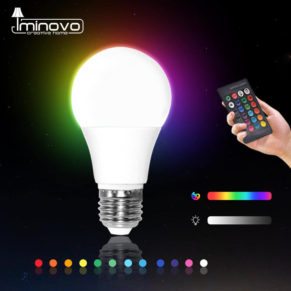 LED RGB Bulb RGBW RGBWW E27 5W 10W 15W Dimmable Spot Light Remote Colorful Holiday Party Bar AC220V 240V Home Decor Night Lamp