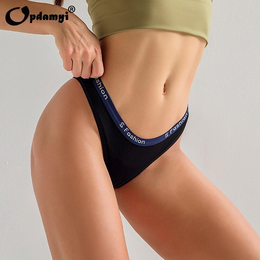 Fashionable Panties Women's Low Waist Panties Sexy Bikini Cheekini Seamless Panties Cotton Thong Bikini Short Briefs