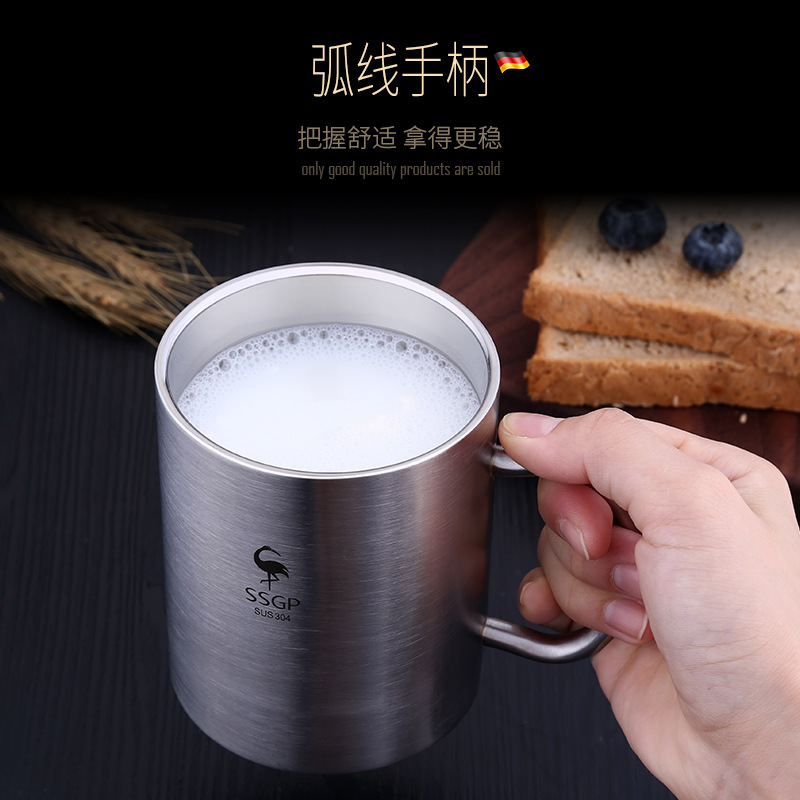 Ssgp304 Stainless Steel Cup Children Stainless Steel Water Cup With Handle Rinse Cup Students Cup Shatter-resistant CHILDREN'S