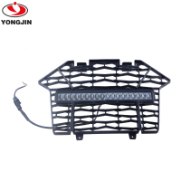 UTV RZR Front Bumper Mesh Grille Grill with LED Light Bar for Polaris RZR PRO XP 1000 2020