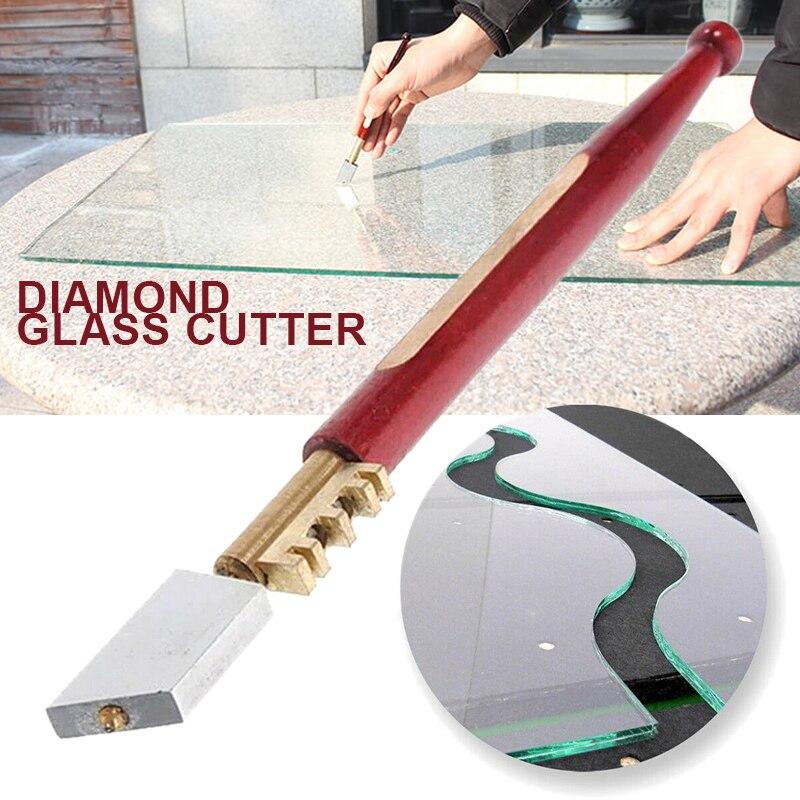 1pc Glass Cutter Diamond Glass Tipped Precision Cutter For Hand Tools Tile Ceramic Mirror Window Slice Cut Score Glass Cutter