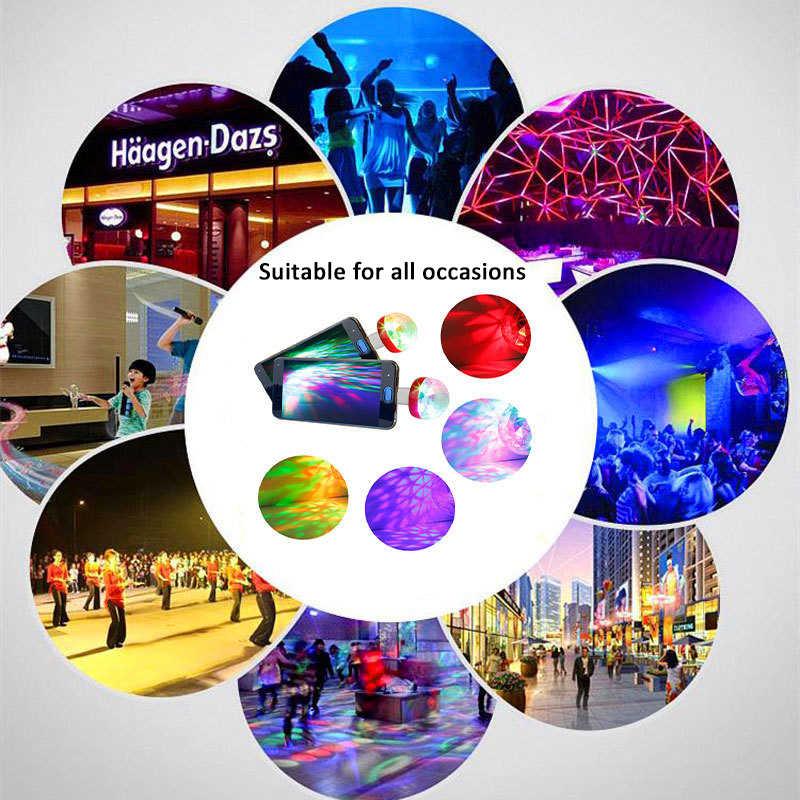 Mini USB RGB FÜHRTE Disco Bühne Licht Tragbare Familie Party Magic Ball Bunte Licht Bar Club Bühne Wirkung Lampe für handy