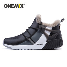 ONEMIX Men's Hiking Shoes Anti Slip Winter Mountain Snow Boots Comfortable Keep Warm Outdoor Sneakers For Men Walking Trekking(China)