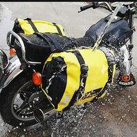 Upgrade Waterproof Motorcycle Saddle Bags Large Capacity Full Face Helmet Motorcycle Luggage Bag Storage Travel Bag 60L