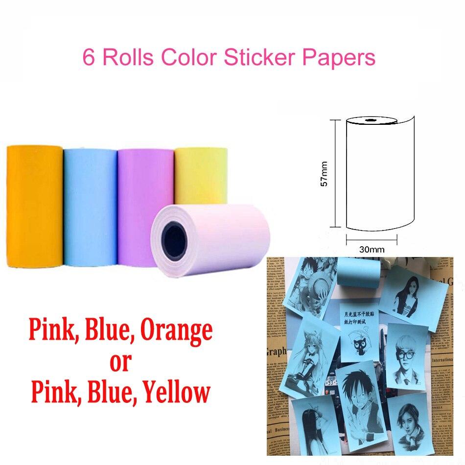 Термальность Бумага этикетка бумажный стикер Бумага для PeriPage Бумага, которые только начинают фотопринтер - Цвет: Color Sticker Paper