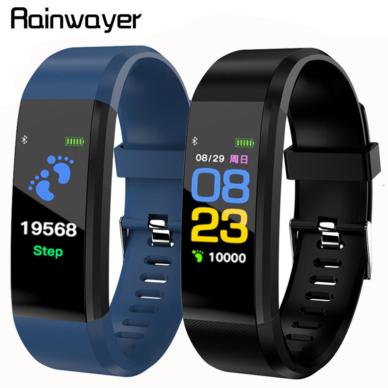 Smart Bracelet Watch For Men Women 115 Plus Smart Wristband Fitness Tracker Pressure Sport Watch Heart Rate Monitor Band A2