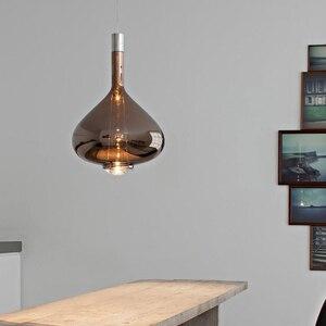 Image 2 - Nordycki kreatywny wisiorek led światła postmodernistyczna szklany obiadowy salon willa lampy wiszące Hotel Bar kawiarnia Art oprawy oświetleniowe