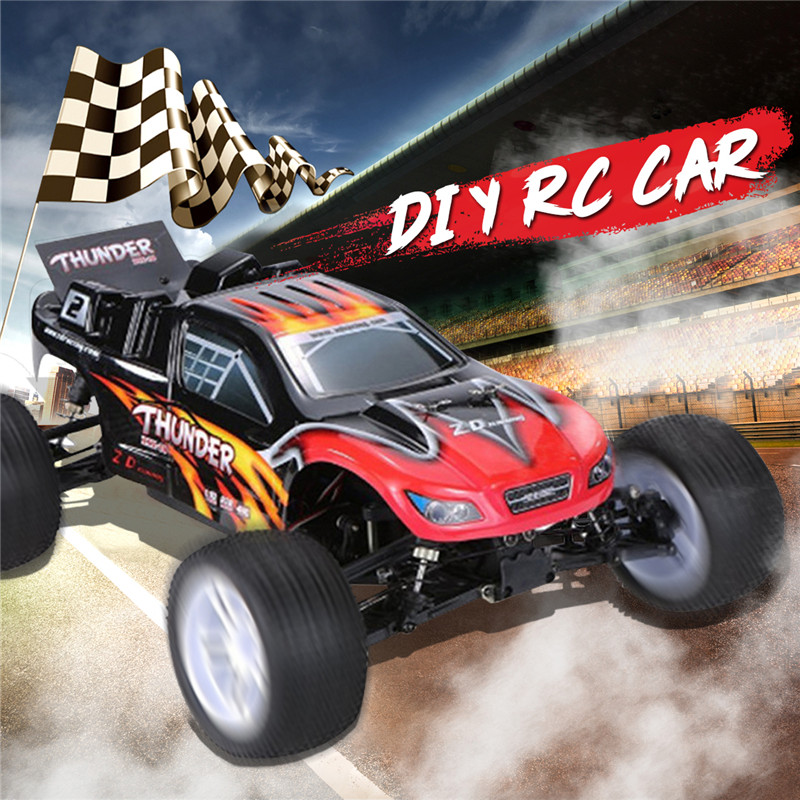 ZD 9104 Thunder ZTX-10 RC Car 1:10 DIY Car Kit 2.4G 4WD Radio Control Car ARR Remote Control Toys Without Electronic Parts