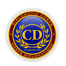 14.5CM*14.5CM Personality Round CD CORPS Diplomatic Seal Car Sticker Decal Car Accessories