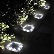 25#8 Светодиодный светильник на солнечной энергии, водонепроницаемый открытый путь, наземный светильник для сада, точечное ландшафтное украшение