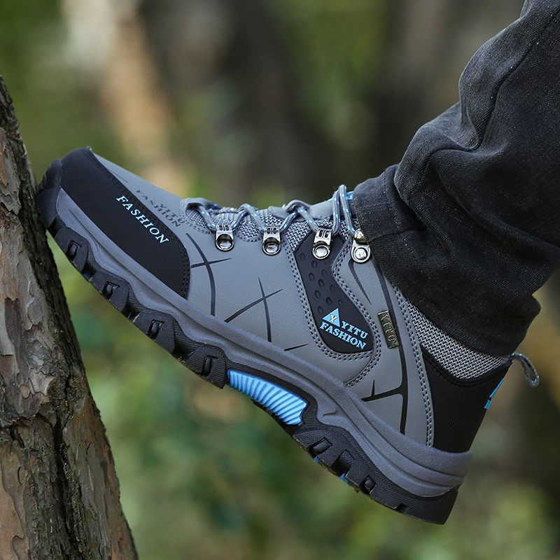Men Profession Hiking Shoes Waterproof Anti Skid Outdoor Trekking Shoes High Quality Climbing Sports Sneakers Plus Size 39~47|Hiking Shoes| |  - title=