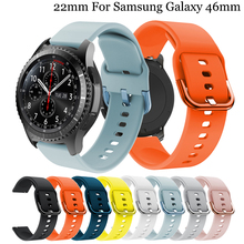 22mm silicone Band Replacement Accessories For Samsung Gear S3 Frontier/Classic Watch Strap For Samsung Galaxy Watch 46mm band stainless steel strap for samsung galaxy watch band 46mm gear s3 frontier classic straps bracelet 22mm wrist replacement band