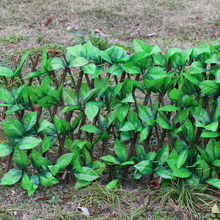 Artificial Faux Ivy Leaf Hedge Panels Privacy Screening Garden Fence Decor Trigeminal Leaf Telescopic Fence
