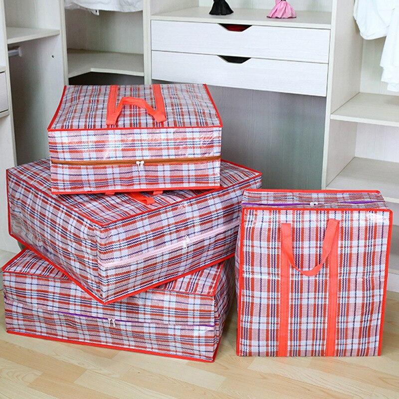 Очень большие тканые сумки Упакованные Move сумка Толстая Водонепроницаемая багажная сумка Одежда Одеяло сумка для хранения износостойкая