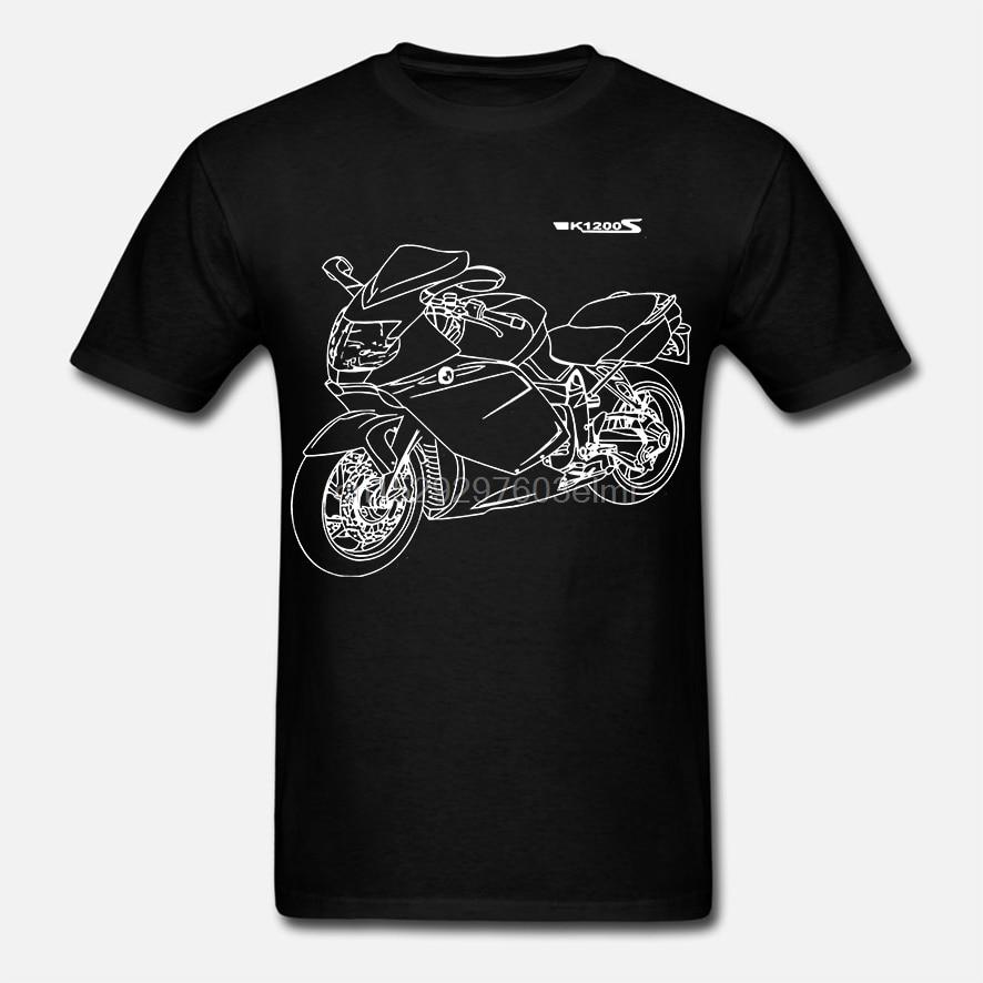 Moda k1200s camiseta mit grafik k 1200 s motorcycle rally motorrad fã t camisa