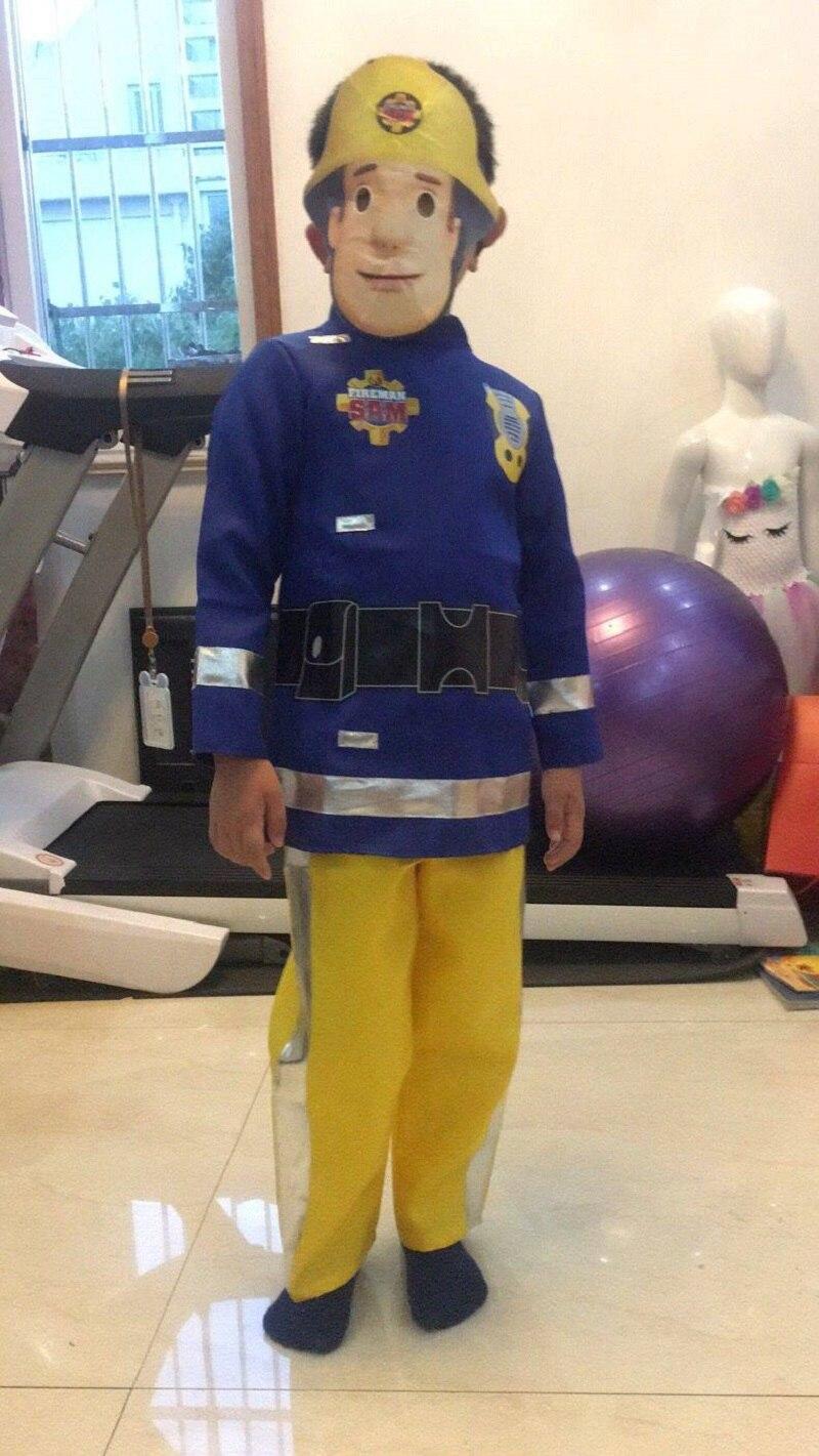 Детское нарядное платье «Пожарный Сэм», костюм Карнавальные вечерние костюмы на Хэллоуин для мальчиков и девочек, топ, штаны, маска для дете...