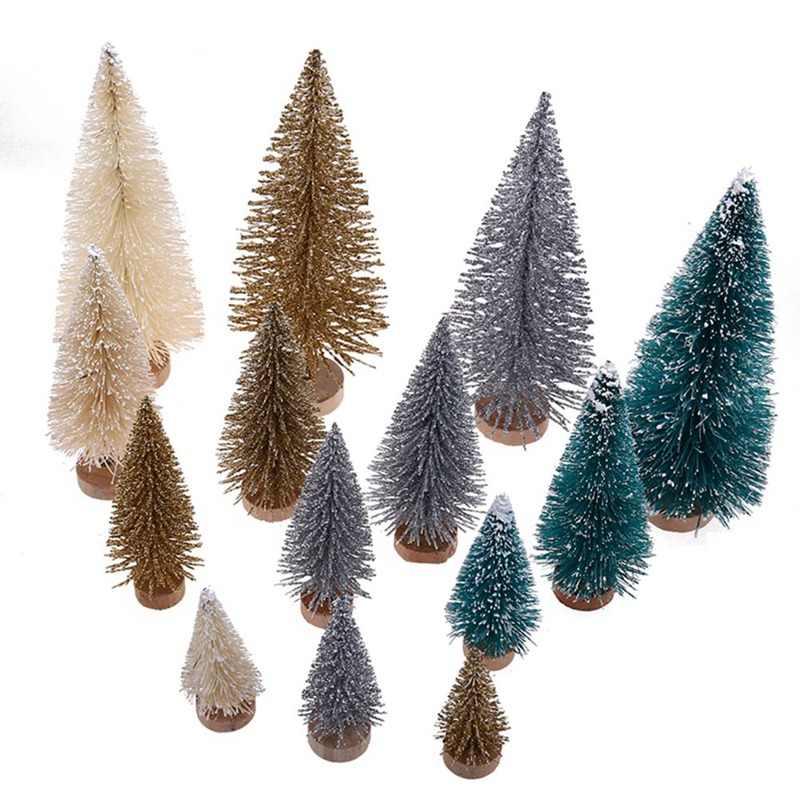 Mini Cây Giáng Sinh 3 Màu Tuyết Sương Giá Cây Thông Nhỏ DIY Thủ Công Để Bàn Trang Trí Giáng Sinh Đồ Trang Trí Quà Giáng Ảnh Chống Đỡ