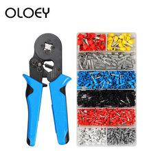 800 1200 Pcs/Box Tubular Line Insert Needle Nose Crimp Connector Insulated Cold Pressed Terminal HSC8 6-4A Crimping Pliers