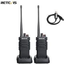 2 peças de alta potência retevis rt29 walkie talkie ip67 à prova dip67 água UHF400 480MHz vox 2 vias transceptor rádio para fazenda fábrica armazém