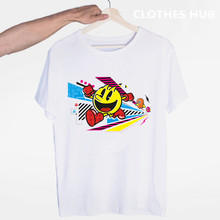 Vintage Pacman T Shirt Keren Retro Arcade PC Video Game Baru Kaos Lucu Tops Tee Baru Unisex Lucu Atasan(China)
