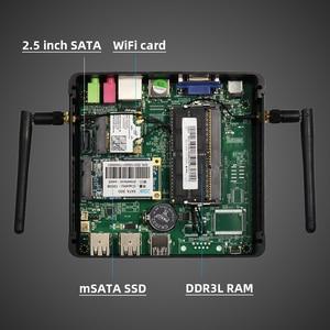 Image 5 - Xcy Fanless Mini Pc Intel Celeron J1900 Quad Cores Windows 10 Linux DDR3L Ram Msata Ssd Vga Hdmi Wifi gigabit Lan 5Xusb Htpc