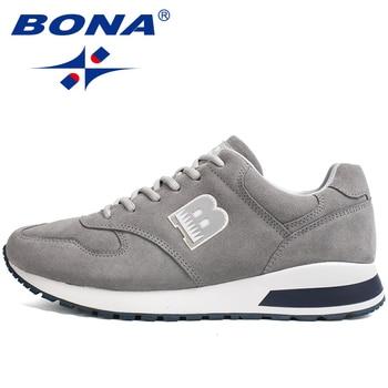 BONA 2020 nuevo estilo Suede Sneakers hombre exterior antideslizante Casual Zapatos Hombre moda Zapatillas De Deporte calzado De ocio Masculino