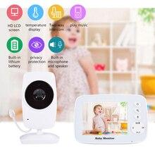 CYSINCOS Baby Monitor Wireless Call Video Nanny 3.2 inch TFT LCD Nursery IR Night Vision 2 way Talk Temperature Sensor Lullabies