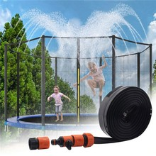 8/12/15m Trampoline Sprinkler Hose Family Waterpark Sprinkler Irrigation Sprinkling Cooling Summer Toy for Children