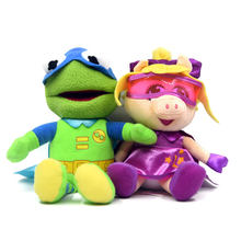 23cm New Cute Muppets Show eye mask Kermit Frog miss piggy Soft Stuffed Plush Toy Doll(China)
