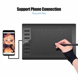 10 Inch tableta grafica Professional graphic tablet drawing tablet 12 Express-Keys with 8192 Levels Battery-Free Stylus Holder