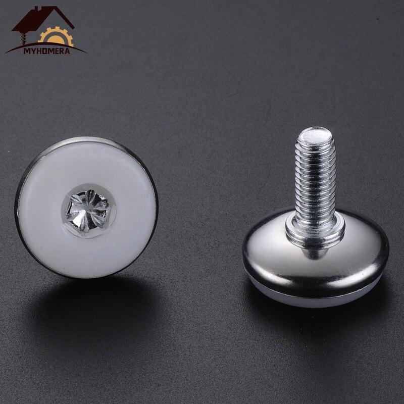 M8 Male Thread Furniture Table Plastic Base Adjustable Leveling Feet Black 8pcs
