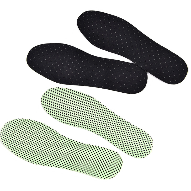 1pair Warm Reflexology Insoles Winter Soles Natural Tourmaline Self-heating Insoles For Footwear Heated Self-heating Insoles