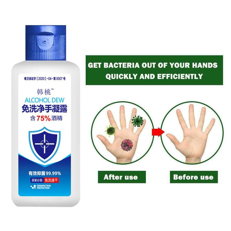 50ml Disposable No Clean Alcohol Hand Wash Gel Antibacterial Moisturizing Hand Sanitizer Hand Sanitizer Gel 75% Alcohol