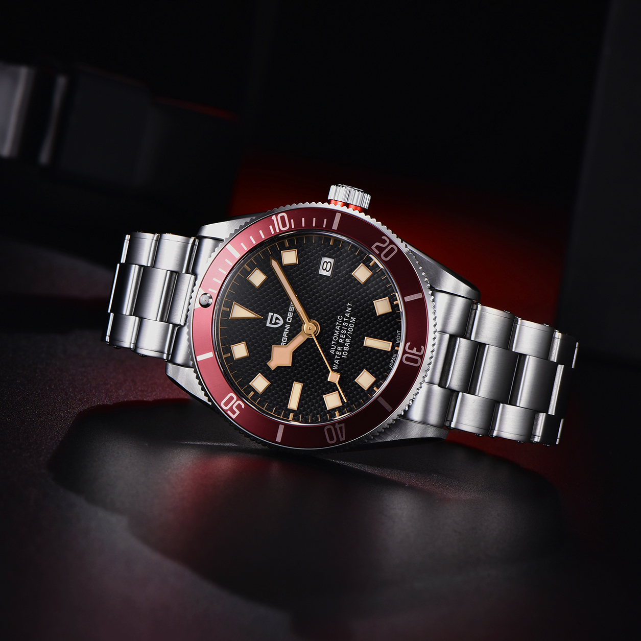 2021 New PAGANI DESIGN BB58 Men's Watches Mechanical Watch For Men Luxury Automatic Watch Men NH35/8215 Waterproof Reloj Hombre 5