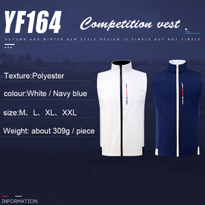 Image 4 - 1 Piece Golf Vest PGM Apparel golf Clothes Mens vest autumn and winter thermal vest windproof waterproof jacket