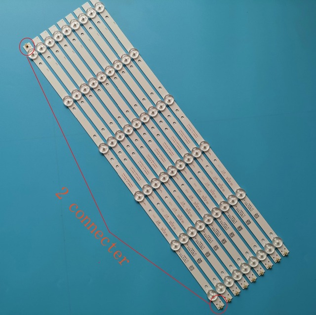 8+1 Pcs/set New LED Strip K490WD7 A1 4708 K49WD7 A1213K11 49PFF5455/T3 49PFF5250 LE49K51S