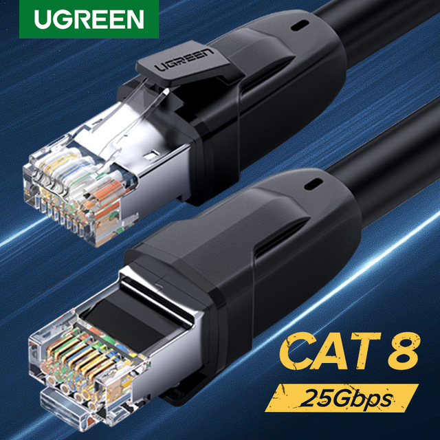 Ugreen Cat8 Ethernet Cable RJ45 Network Cable FTP Lan Cable Cat 7 RJ45 Patch Cord 10m/20m/30m