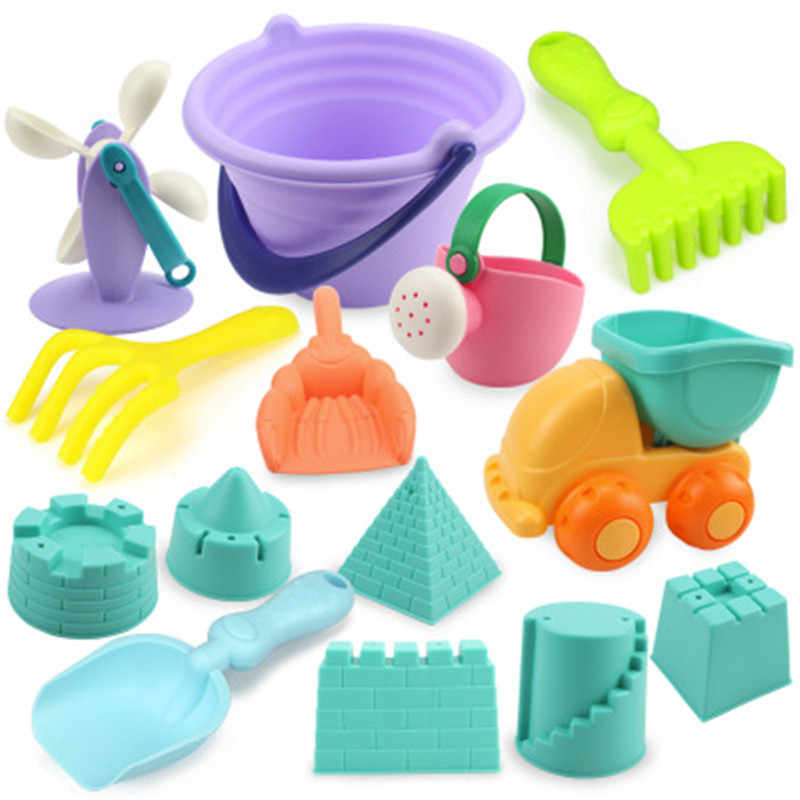 Brinquedos de praia para crianças 5-22 pces jogo de praia do bebê brinquedos crianças conjunto de caixa de areia jogo de brinquedo de verão para a água de areia neve jogo carrinho de jogo