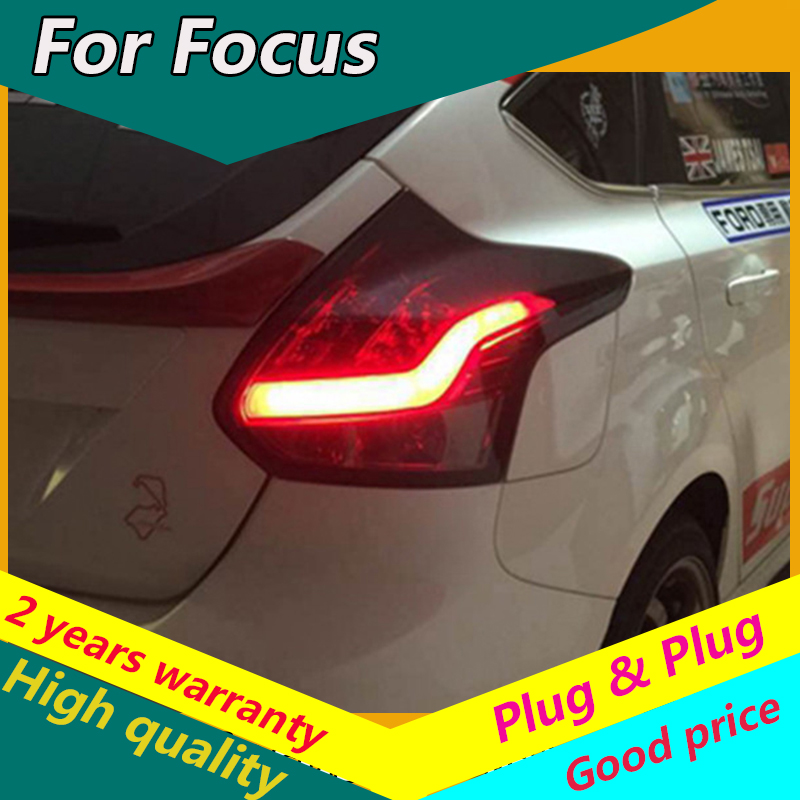 KOWELL Car Styling For <font><b>Ford</b></font> <font><b>Focus</b></font> Hatch-back <font><b>Taillights</b></font> 2012 2013 2014 LED Tail Lamp Rear Lamp DRL Brake Park Signal led light image