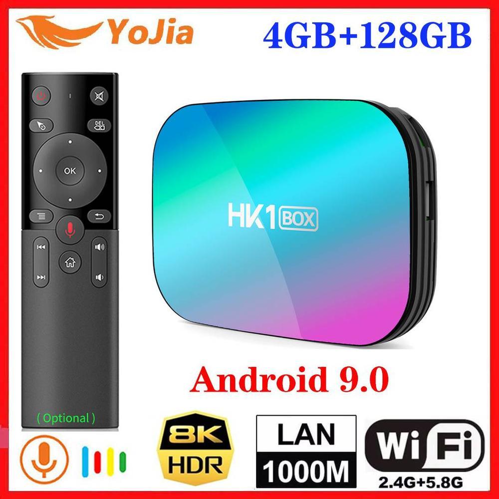 2020 4GB RAM 128GB ROM Amlogic S905X3 8K TV BOX Android 9.0 HK1 1000M Dual Wifi Google Player Netflix Smart Media Player 2G/8G