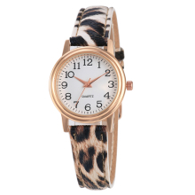 New Fashion Quartz Watch Leopard Print Watch Analog Women Watch Leather relojes de mujer royal crown 6311l italy brand diamond japan miyota ceramics new fashion women analog quartz watch female relojes mujer