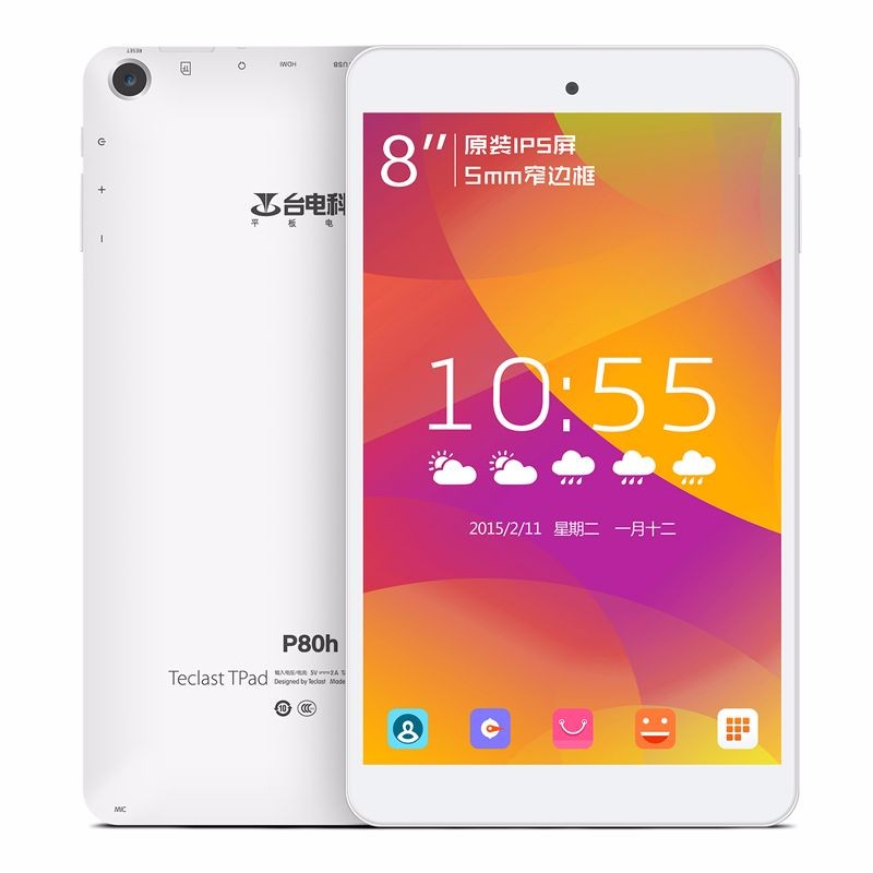 Teclast P80H 8 pouces Android 5.1 tablette PC MT8163 Quad Core 1GB RAM 8GB ROM 1280*800 IPS 1.3GHz double caméra tablette